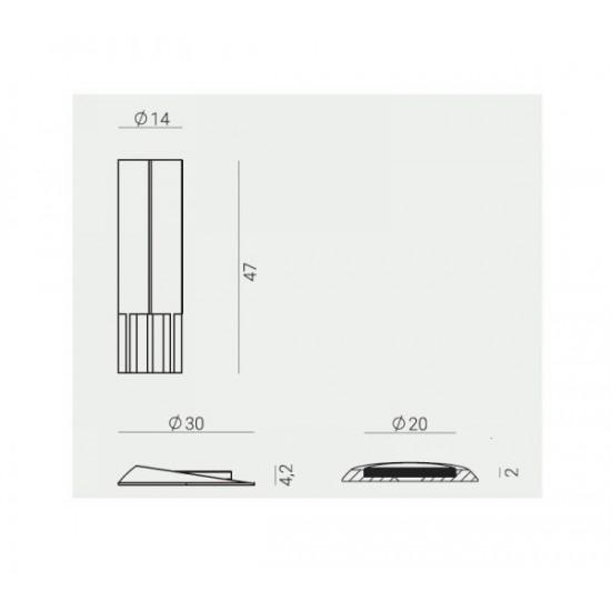 Magnētiska durvju atdure Stopino 2,0