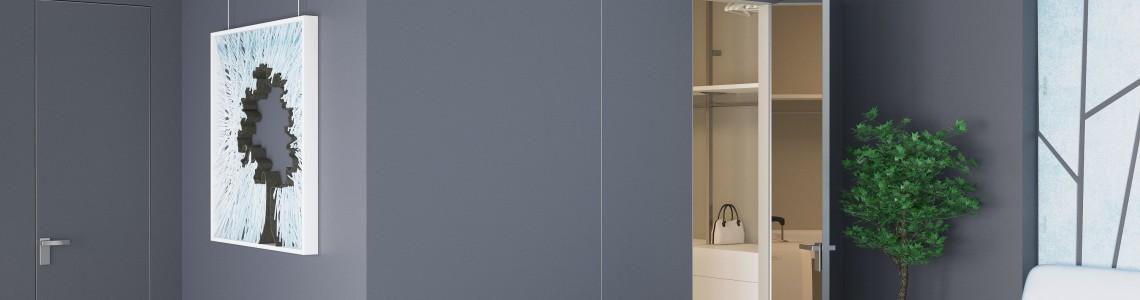 NEW Durvju vērtne ar spoguli: 0M un 1M